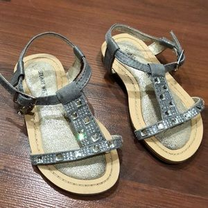 Stuart weitzman girls sandals with rhinestones